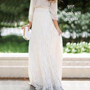 Dresses & Skirts - HP 🥂🎉 Sweet lace maxi skirt