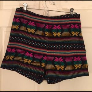 Blue Life Pants - Planet Blue Kenny sz M Aztec knit shorts