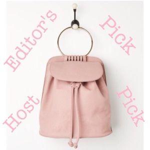 Handbags - Gold ring pink backpack💕