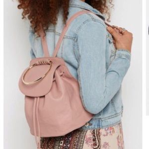 Handbags - 💖Last one💖Gold ring pink backpack