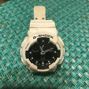 G-Shock Accessories - White G-Shock GA100B
