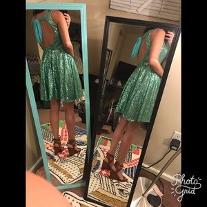Dresses & Skirts - NWOT S/M Turquoise/Sea Green Sparkle Sequin Dress