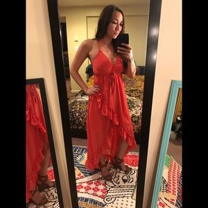 Dresses & Skirts - NWOT S/M Beautiful Coral Midi/Maxi Dress