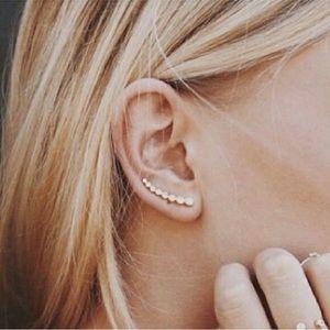Brandy Melville Jewelry - Silver Crystal Climber Earrings