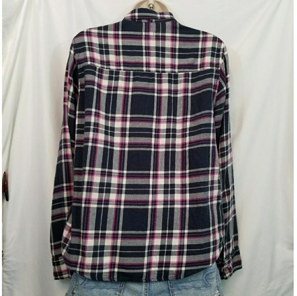 43 off hollister tops hollister purple plaid button for Purple plaid button up shirt