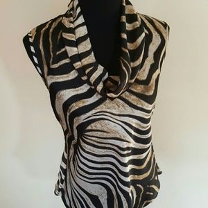 Kenneth Cole Tops - Kenneth Cole Animal Print Blouse Size 8P