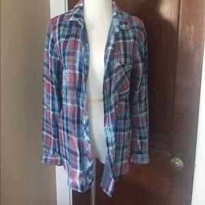Anthropologie Cloth & Stone Plaid Buttondown XS