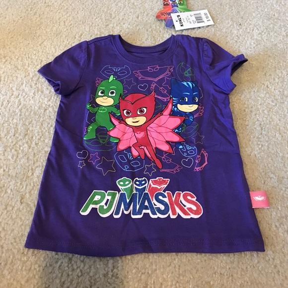 1cf94edfb pj masks Shirts & Tops | Nwt Toddler Girls Purple Tshirt Sz T | Poshmark