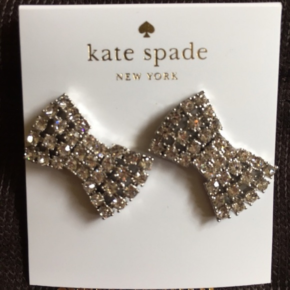 kate spade Jewelry - Kate Spade Sparking Bow Studs