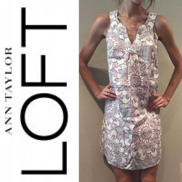 814aecffd121e Ann Taylor Dresses   Skirts - Ann Taylor Loft Linen Blend Shift Dress