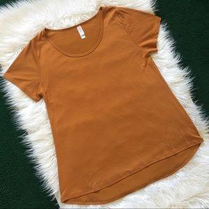LuLaRoe Classic T T-Shirt Plain Solid Orange SZ L