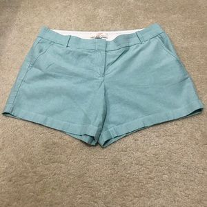 "Chino 3"" broken-in cotton shorts soft mint/blue"