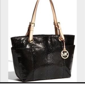 Authentic Michael Kors Phython tote bag