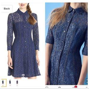 Nanette Lepore Dresses & Skirts - Nanette Lepore Blue denim look shirt dress NWT