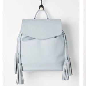 Handbags - Light blue tassel backpack