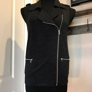 Mossimo Tops - Heathered Black Zippered Vest