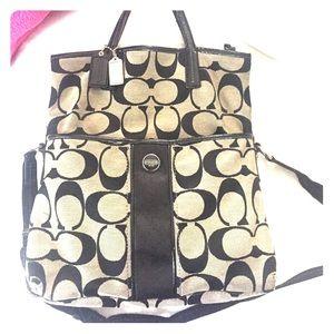 Black and Grey Coach Bag