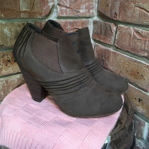 Shoes - Faux suede booties