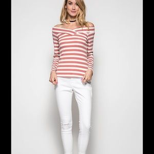 Tops - Long sleeves striped top