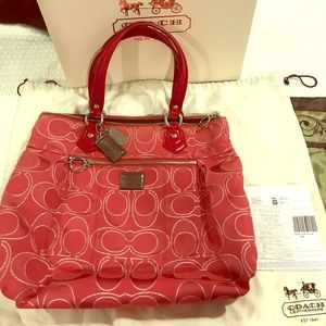 REAL COACH POPPY Signature Glam (Large)w/dust bag