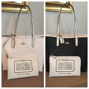 NEW Coach PVC Reversible City Tote