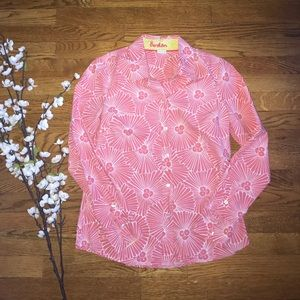 Boden long sleeve Floral print button down shirt 6