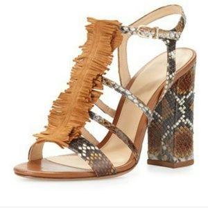 "Alexandre Birman Shoes - Alexandre Birman ""Angelle"" Strappy Python Sandals"