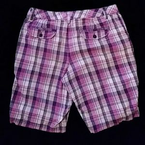 LFL Pants - LFL pink plaid shorts - size 8