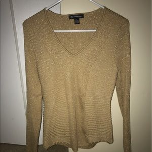 Sparkly Gold INC Sweater size M. NWT