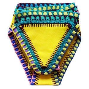 KIINI Other - Yellow Crochet Bikini