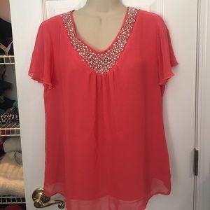 Element Tops - Elements pink blouse- medium