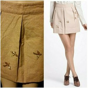 SALE! Anthropologie Leifnotes Shiny Sequined Skirt