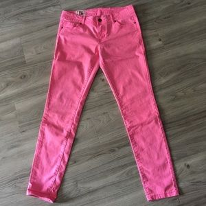 1st Kiss Pants - Highlighter Pink Stretch Jeans