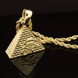 Other - Gold Plated Pyramid Eye Rope Chain