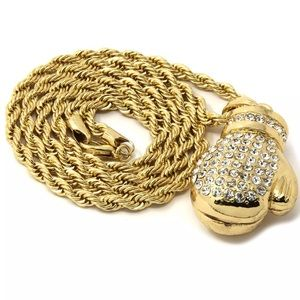 Other - Gold Plated Boxing Glove Rope Chain