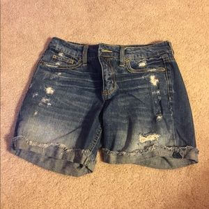 American Eagle Outfitters Shorts - Jean shorts with holes - hardly worn