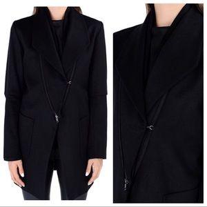 Ann Demeulemeester Jackets & Blazers - Ann Demeulemeester Dual Asymmetric Zipper Coat