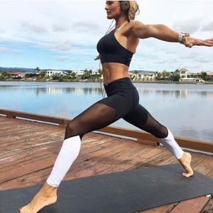 lululemon athletica Pants - NWT black white mesh workout yoga leggings