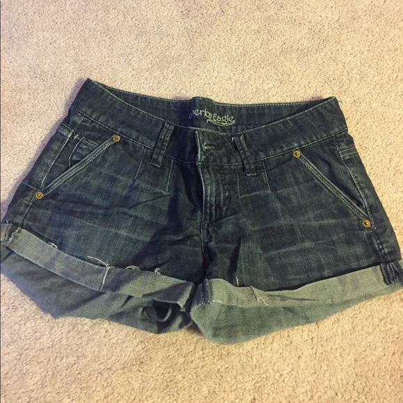 American Eagle Outfitters Pants - Dark wash jean shorts