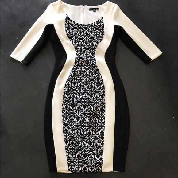 Sangria Dresses Black And White Dress Poshmark