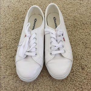 Superga Shoes - White leather supergas