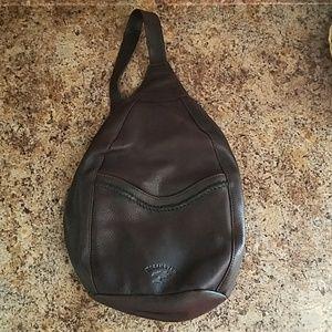 Ellington Sling Shoulder Brown Leather Backpack