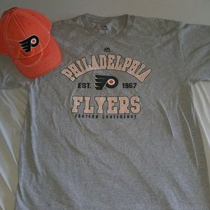 Majestic Other - Philadelphia Flyers t-shirt and hat