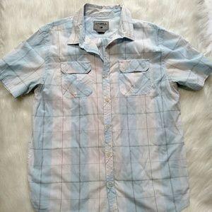 O'Neill XL white blue shirt sleeve shirt