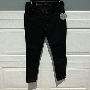 Articles Of Society Denim - Black jeans size 28 NWT button fly stretch in
