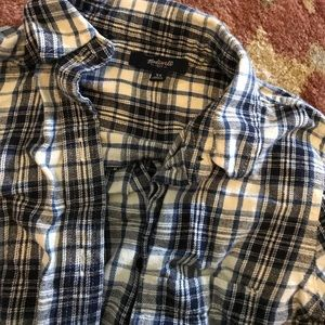 Madewell cotton flannel fitted shirt XS/XXS