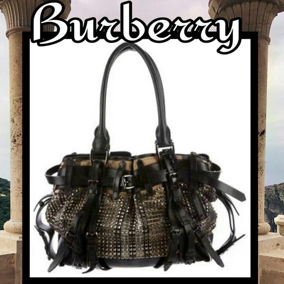 8e9ab4a09173 Burberry Handbags - BURBERRY House Check Studded Rowan XL Tote