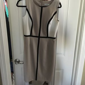 Calvin Klein Neutral Sheath Dress
