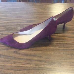 Ivanka Trump Shoes - Purple Suede Pointy Toe Heels