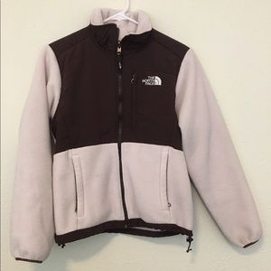 Light Pink and Brown NorthFace